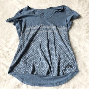 North Face Blue Patterned Tee